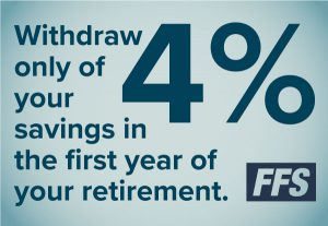 Withdraw only 4% of savings.