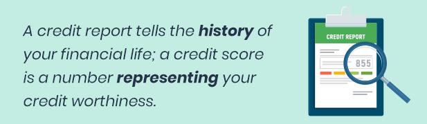 credit score v. credit report