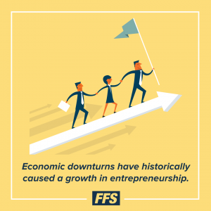 Economic downturns have historically caused a growth in entrepreneurship.