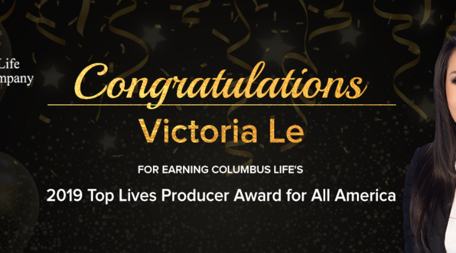 FFS' Victoria Le 2019 Top Lives Producer Award by Columbus Life