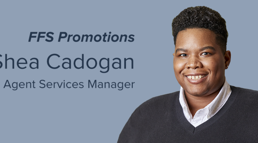 Shea Cadogan promoted to Manager of the Agents Services Department